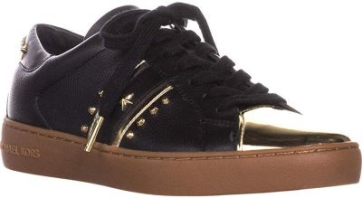 Michael Kors Women's Frankie Metallic Leather Striped Sneakers Size 40